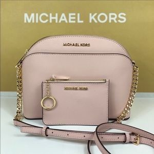 🌸Michael Kors Md Dome Crossbody & Coin Wallet Set
